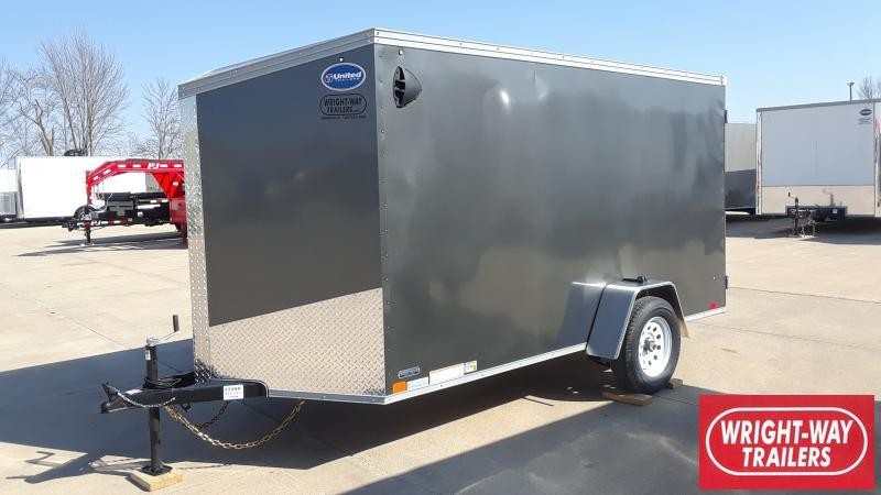 2021 United Trailers 6X12 SLANT NOSE CARGO Enclosed Cargo Trailer