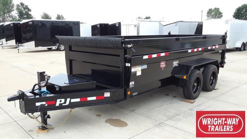 2022 PJ Trailers 16' HD LOW-PRO DUMP Dump