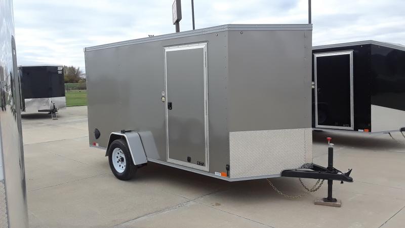 2020 United Trailers 6x12 V NOSE CARGO Enclosed Cargo Trailer