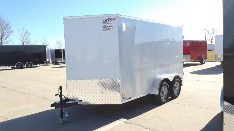 """2021 Bravo Trailers 7X12+30""""V NOSE CARGO Enclosed Cargo Trailer"""