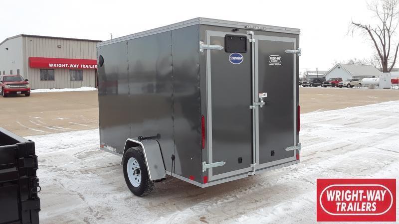 "2021 United Trailers 6X10+24""V-SLANT CARGO Enclosed Cargo Trailer"
