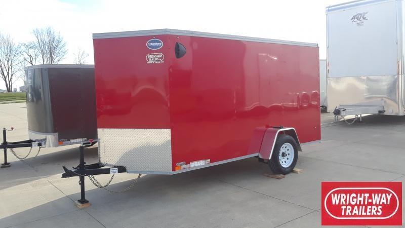 2021 United Trailers 6X12 V NOSE CARGO Enclosed Cargo Trailer