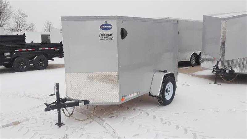 2021 United Trailers 5X8 V NOSE ENCLOSED Enclosed Cargo Trailer