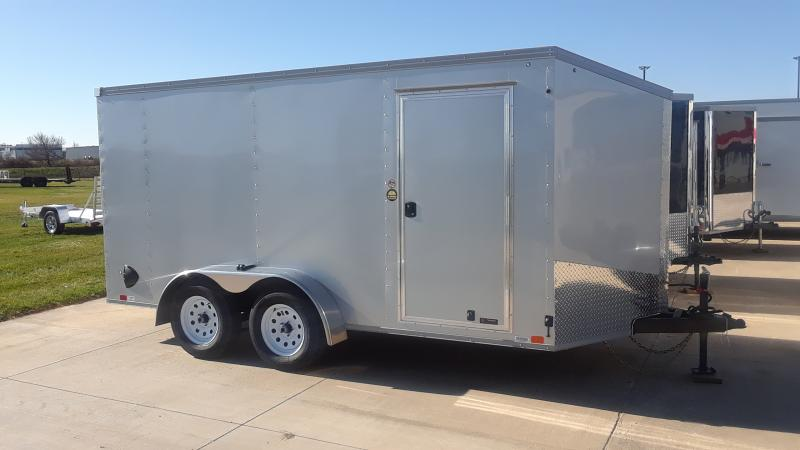 2021 United Trailers 7X14 V NOSE CARGO Enclosed Cargo Trailer