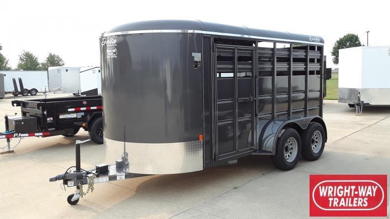 2021 Delta Manufacturing 14' SLANT LOAD HORSE Horse Trailer