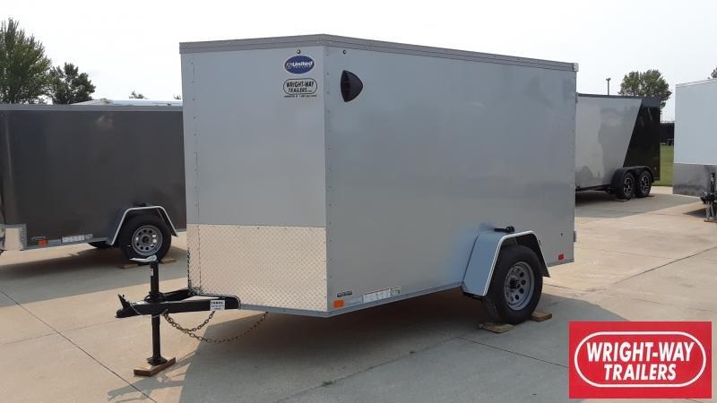 2022 United Trailers 6X10 V NOSE CARGO Enclosed Cargo Trailer