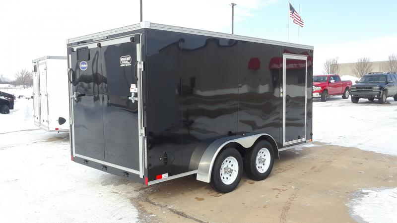 2021 United Trailers 7X14 V NOSE CARGO Enclosed Cargo Trailer