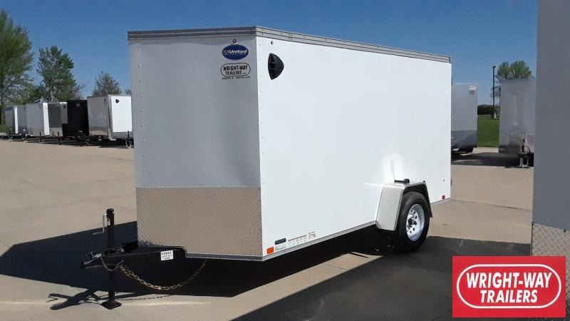 2022 United Trailers 6X12 V NOSE Enclosed Cargo Trailer