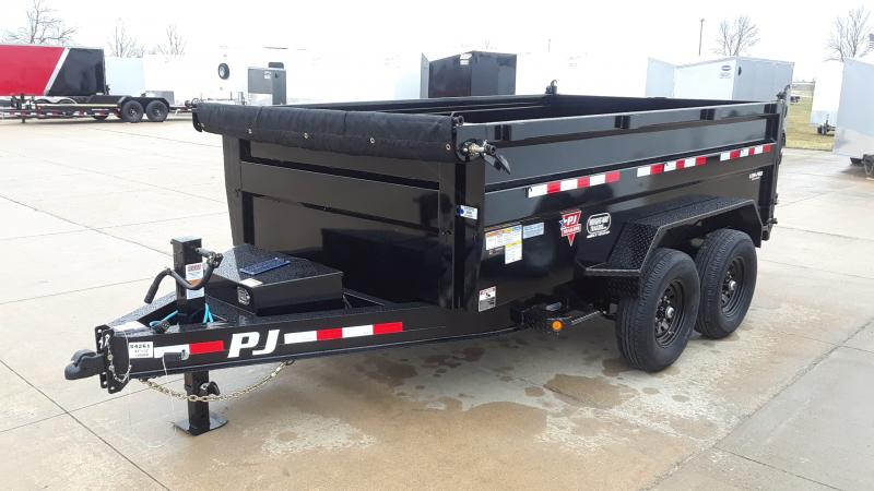 2021 PJ Trailers 12' LOW PRO HIGH SIDE DUMP Dump