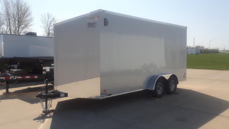 """2021 Bravo Trailers 7X16+30""""WEDGE NOSE CARGO Enclosed Cargo Trailer"""