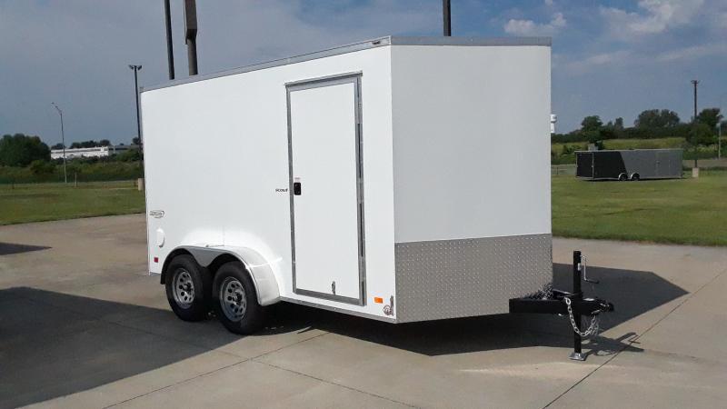 2022 Bravo Trailers 7X12 V NOSE CARGO Enclosed Cargo Trailer
