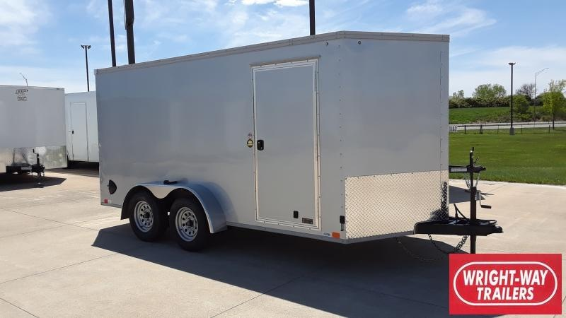 2022 United Trailers 7X14 V NOSE CARGO Enclosed Cargo Trailer