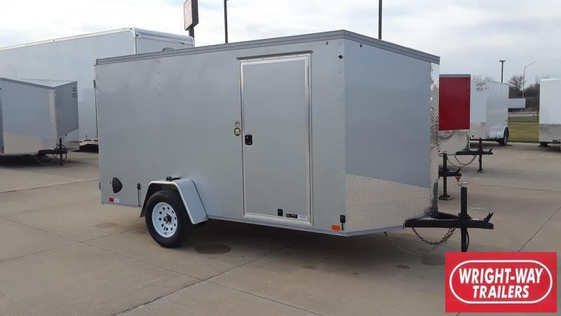 2021 United Trailers 6X12 V NOSE CARGO Enclosed Cargo Trailer