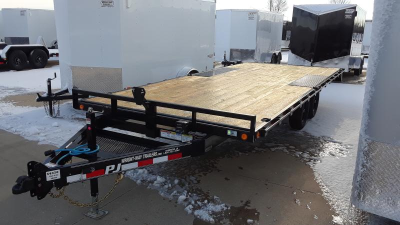 2021 PJ Trailers 20' MED DUTY DECKOVER Equipment Trailer