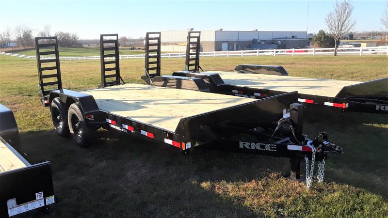 2021 Rice 18' EQUIPMENT 16+2 Equipment Trailer
