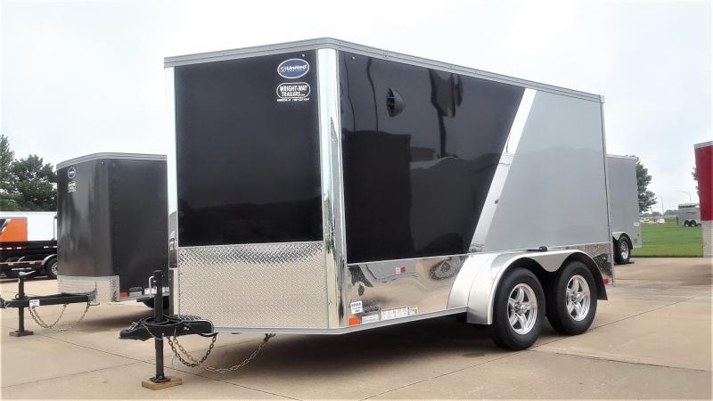 2021 United Trailers 7X12 TANDEM SPRING MOTORCYCLE Enclosed Cargo Trailer