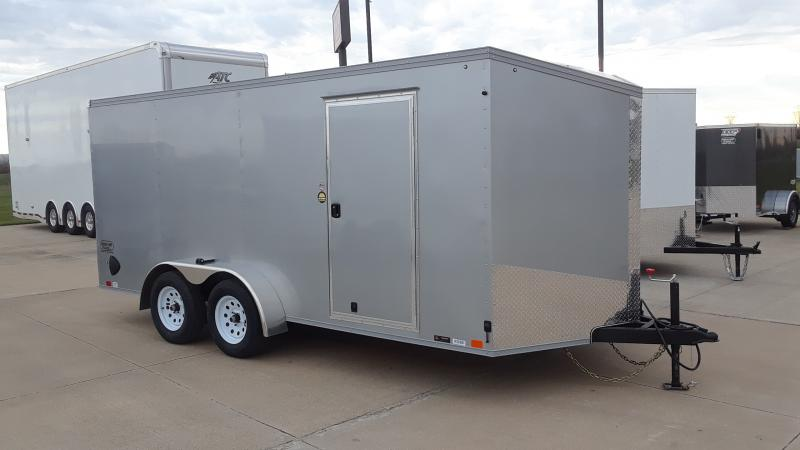 2021 United Trailers 7X16 V NOSE CARGO Enclosed Cargo Trailer
