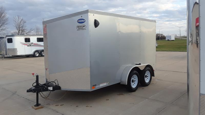 2021 United Trailers 7x12 V NOSE Enclosed Cargo Trailer