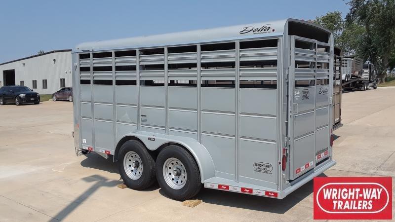 2021 Delta Manufacturing 16' LIVESTOCK TRAILER Livestock Trailer