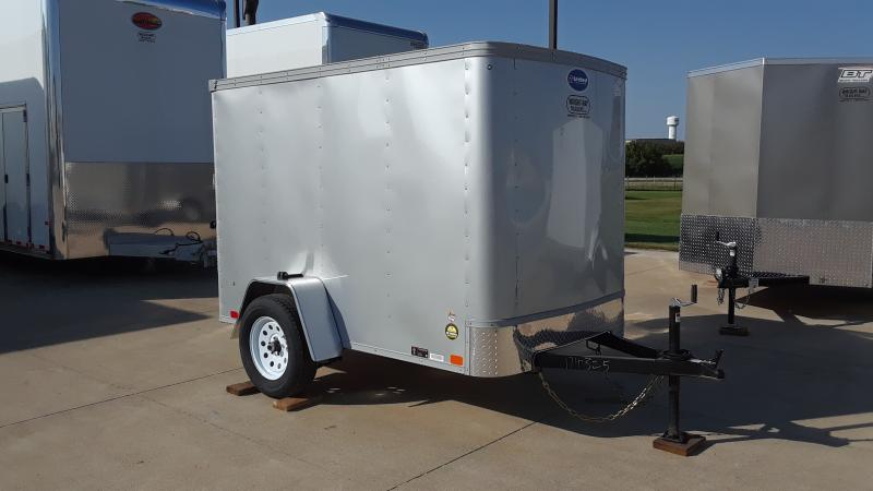 2021 United Trailers 5X8 FLAT FRONT CARGO Enclosed Cargo Trailer