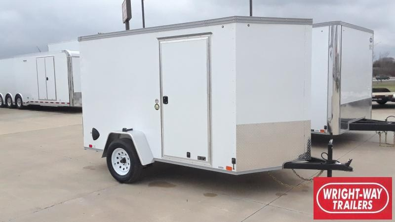 2021 United Trailers 6X10 V NOSE CARGO Enclosed Cargo Trailer
