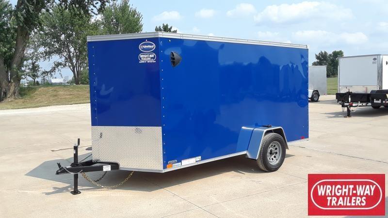2022 United Trailers 6X12 V NOSE CARGO Enclosed Cargo Trailer