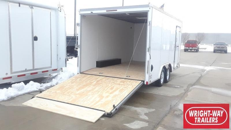 2021 United Trailers 8.5 X 16 FLAT FRONT Enclosed Cargo Trailer
