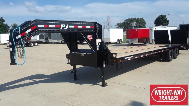 2021 PJ Trailers 32' Low-Pro Flatdeck W/ Duals Flatbed Trailer