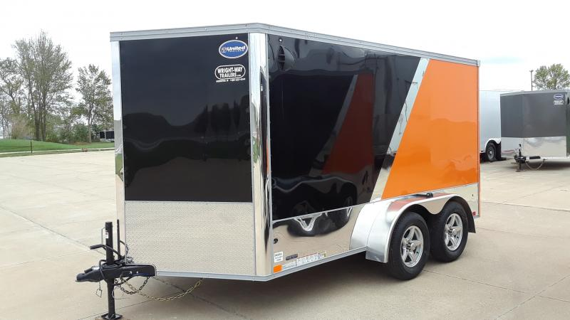 2021 United Trailers 7X12 TANDEM SPRING MOTORCYCLE Motorcycle Trailer