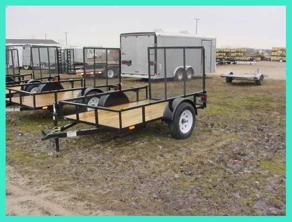2020 American Manufacturing Operations (AMO) 5X8US081 Utility Trailer