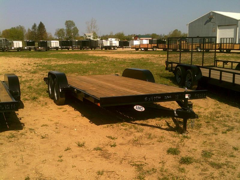New 20' Wood Deck Car Hauler W/one Axle Brakes