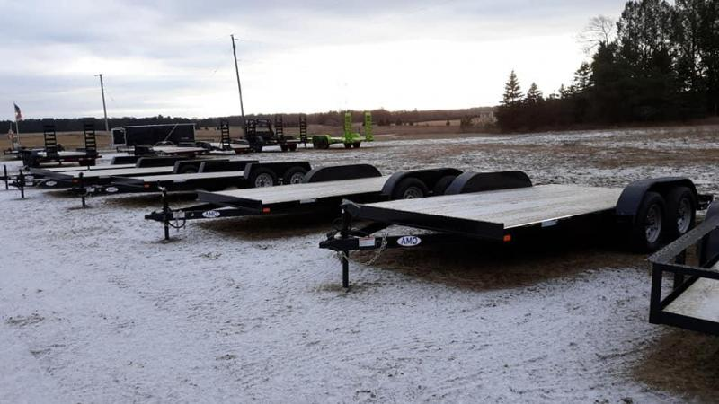 New 16' Wood Deck Car Hauler W/2 Axle Brakes