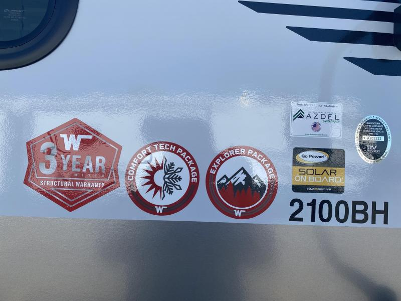 2022 Winnebago Micro Minnie 2100BH Travel Trailer RV