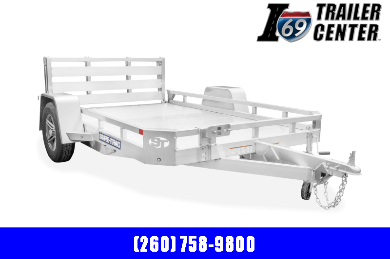 2022 Sure-Trac Aluminum 7x10 Low Side ST8210LS-A-030 Utility Trailer