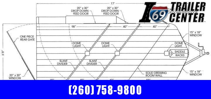 """2022 Valley Trailers 3 Horse Slant Tack 17' x 6'8"""" x 7' (3820) Thoroughbred Other Trailer"""