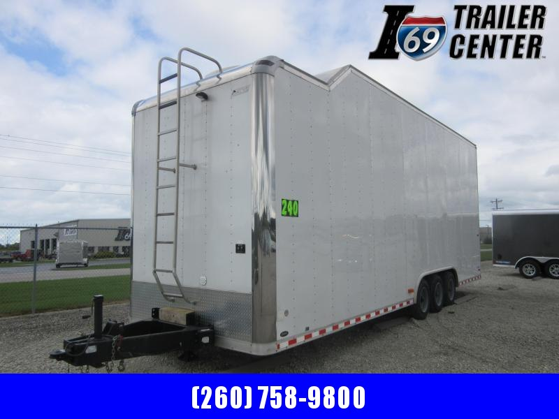 2006 Pace American 30 ft stacker bumper pull with lift Car Racing Trailer