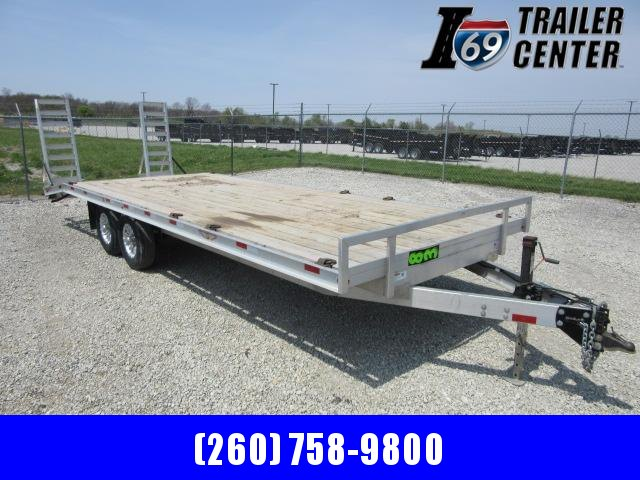 2020 H and H Trailer 102x20+4 dove HAL Hi-Deck Tandem Axle Aluminum Equipment Trailer