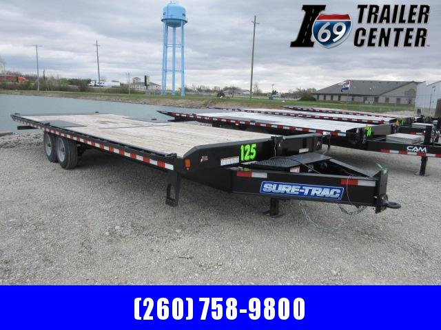 2021 Sure-Trac 102x26 deckover tilt tandem BP 17.6K Equipment Trailer