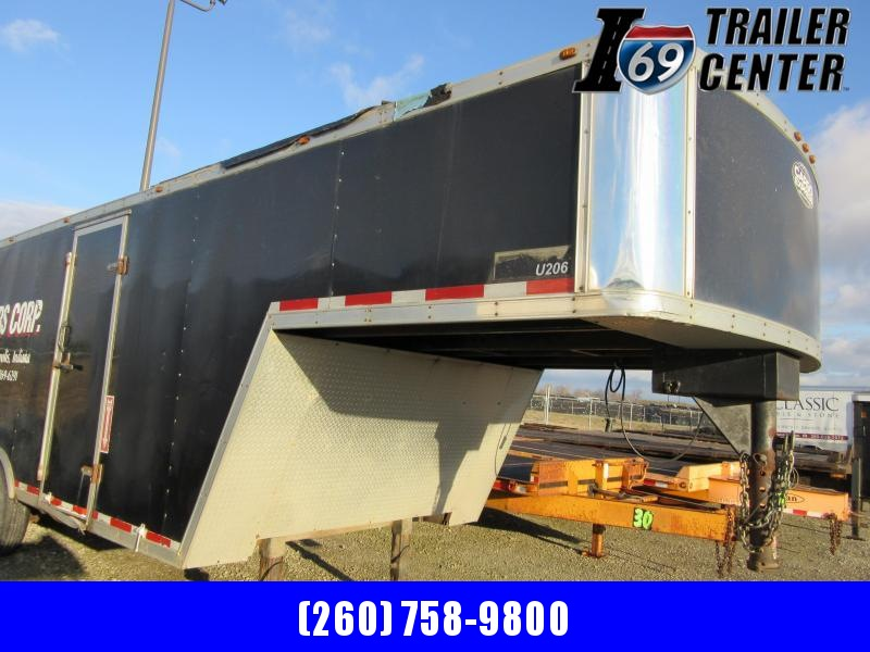 "2008 Cargo Express Enclosed GN 8.5 x 28 15.6K Encl door opening 71"" height! Cargo Trailer"