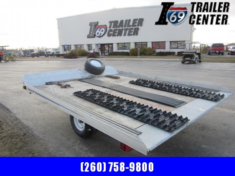 1997 ShoreLandr (Midwest Industries) 8ft x 10ft Tilt Snowmobile Single Axle Snowmobile Trailer