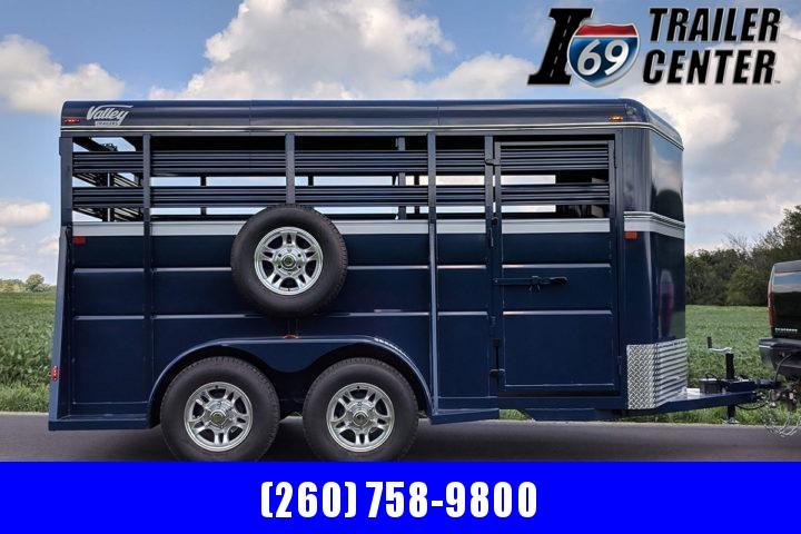 2021 Valley Trailers Blue 16Ft Livestock Bumperpull Horse Trailer
