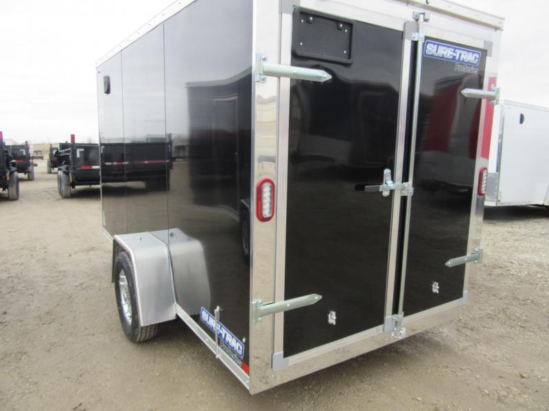2021 Sure-Trac 6 x 12 DOUBLE REAR DOORS Pro Series Enclosed Wedge Cargo T