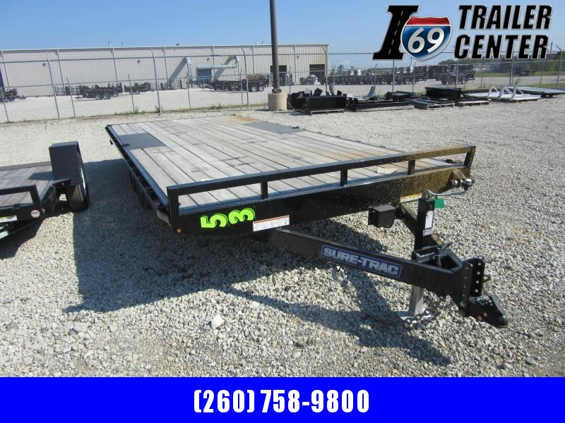2020 Sure-Trac 8.2 x 20 flat deck deckover 10K Equipment Trailer