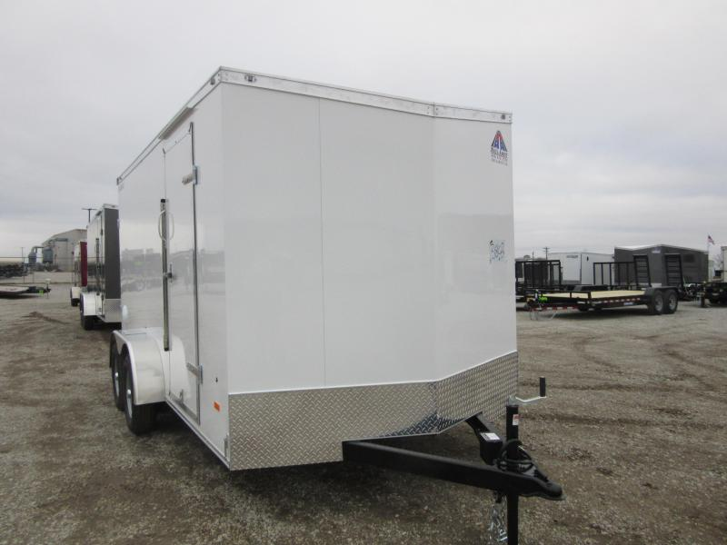 2021 Haul-About 7 x 16 Cougar tandem axle rear RAMP Enclosed Cargo Trailer