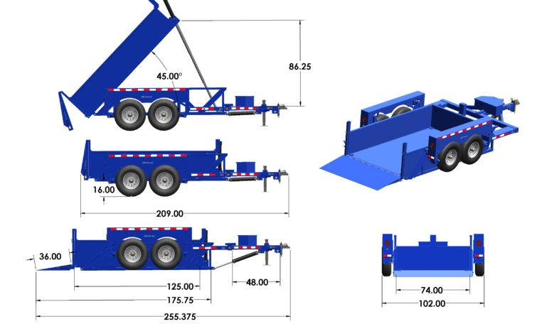 2021 Air Tow 3D-12 Drop-Deck/Dump Dump Trailer