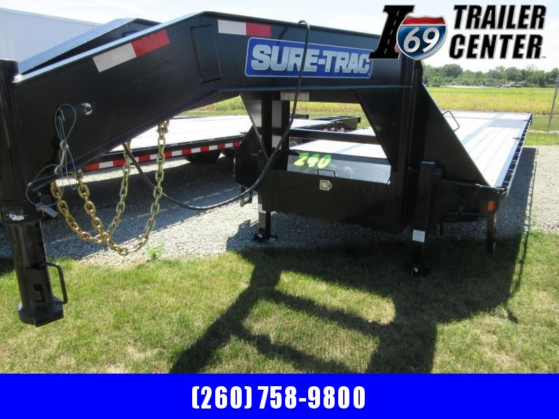 2020 Sure Trac 8 5 x 25 + 10 Low Pro Hyd Tail Equipment Trailer