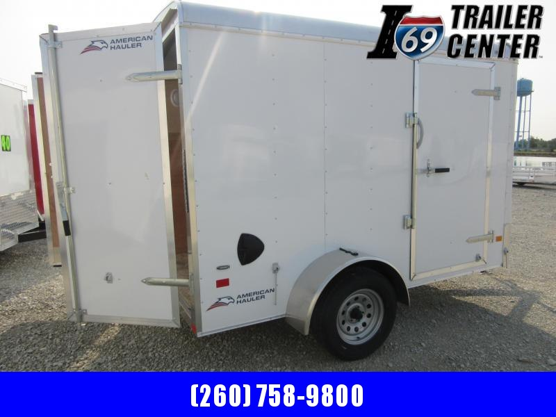 2019 American Hauler American Hauler 6 x 10 White Double rear doors Enclosed Cargo Trailer