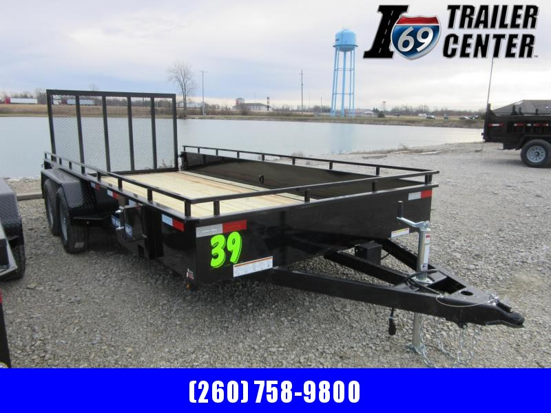 2021 Sure-Trac 7 x 16 Steel High Side Trailer  7K Tande