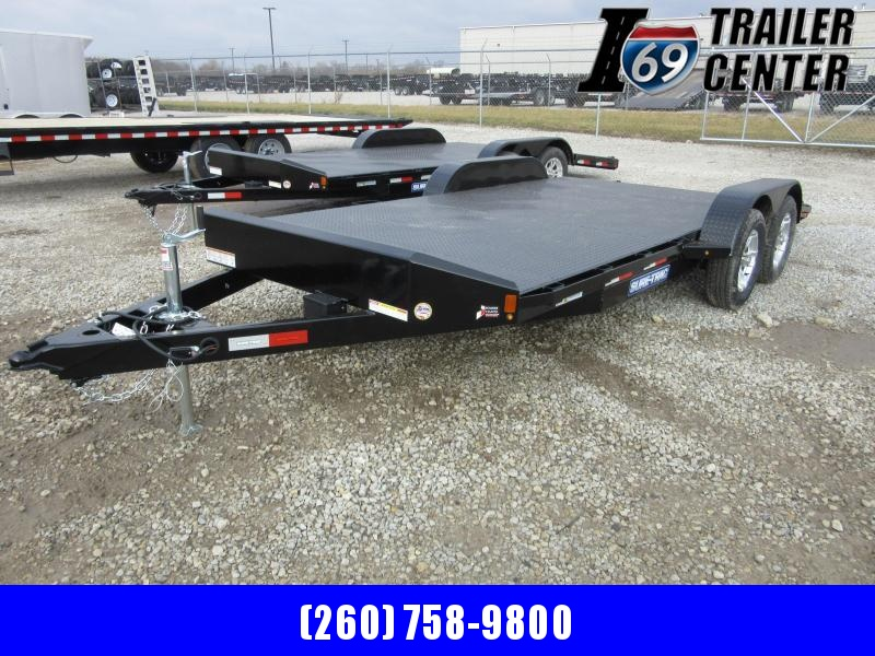 2021 Sure-Trac 7 x 18 (14+4) Steel Deck Car Hauler Trai