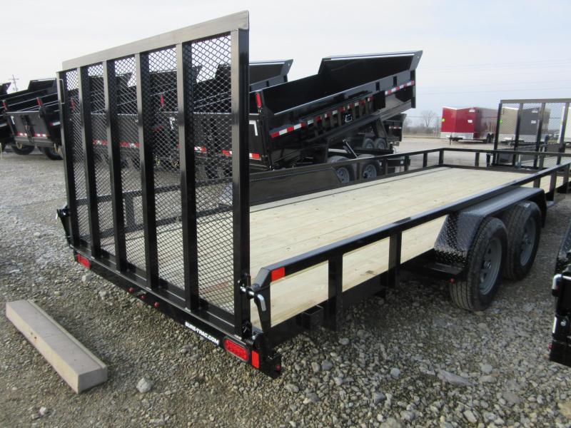 2021 Sure-Trac 7 x 20 tube top utility 7K tandem axle Utility Trailer